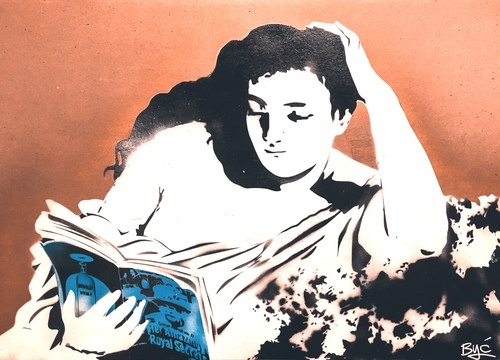 A young woman reading, 2020
