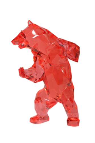 Standing Bear Red Crystal Clear