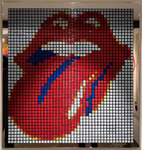 Rubiks Rolling Stones Blanc