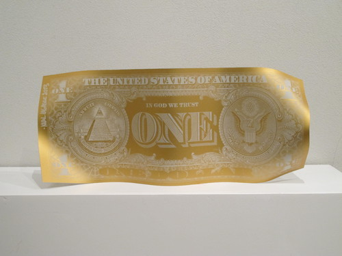 One dollar mat - Gold