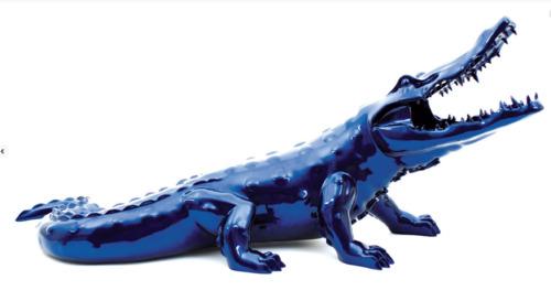 Crocodile Facette -Bleu Mick (110)