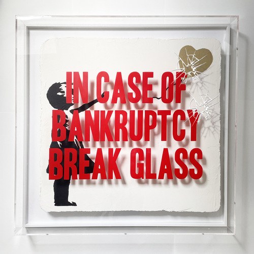 "In Case of Bankruptcy - BROKEN GLASS - ""Balloon Girl Golden"", 2021"