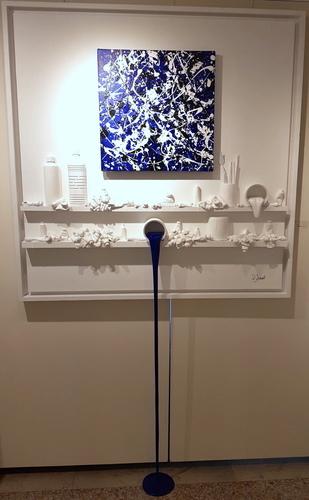 Flow 141 - Hommage à Pollock bleu
