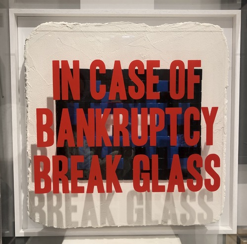 In Case of Bankruptcy - Invader Black and Blue (50x50 cm)