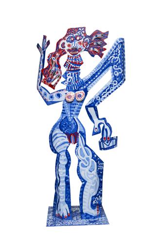 Femme en bleu, 2017
