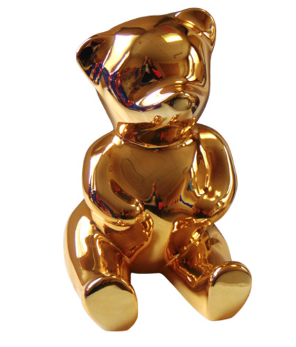 Brainy Gold : Nounours Assis (Résine - Glossy)