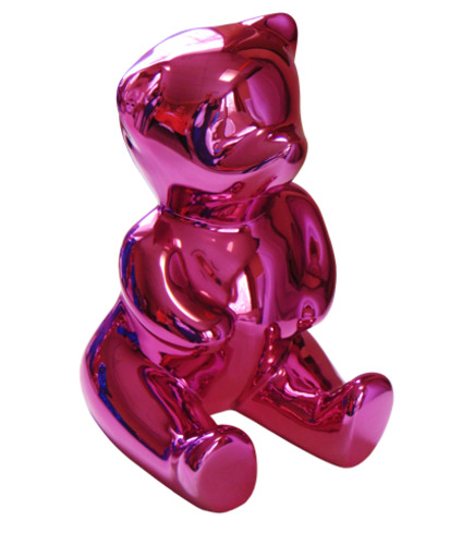 Brainy Pink : Nounours Assis (Résine - Glossy)