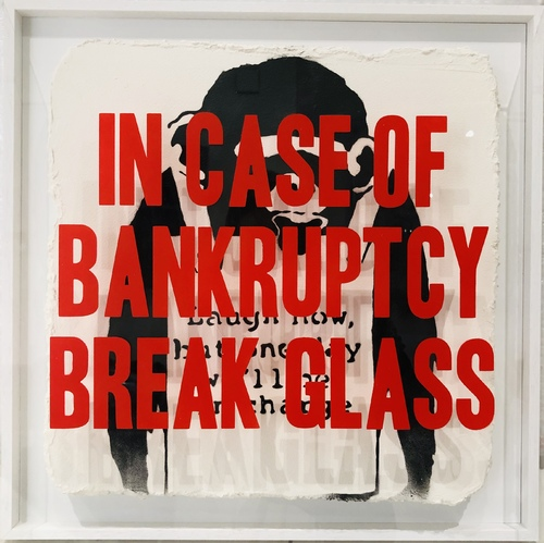 In Case of Bankruptcy - Banksy Laugh Now (50x50cm)