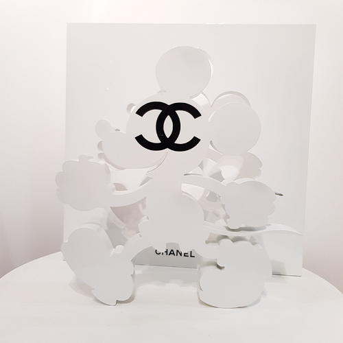 Sculpture Mickey White Addict CC