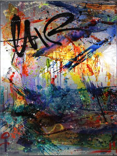 Abstract grey & graff