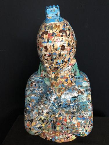 """TINTIN Penseur - """"L'ordre et le chaos"""" Coke en Stock (75 cm)"""