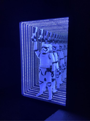 LED coffrage Starwars : blanc