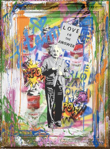 Einstein, 2019 (C100697) - Vandalized Canvas